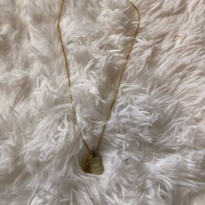 Micheal Kors gold dog tag necklace